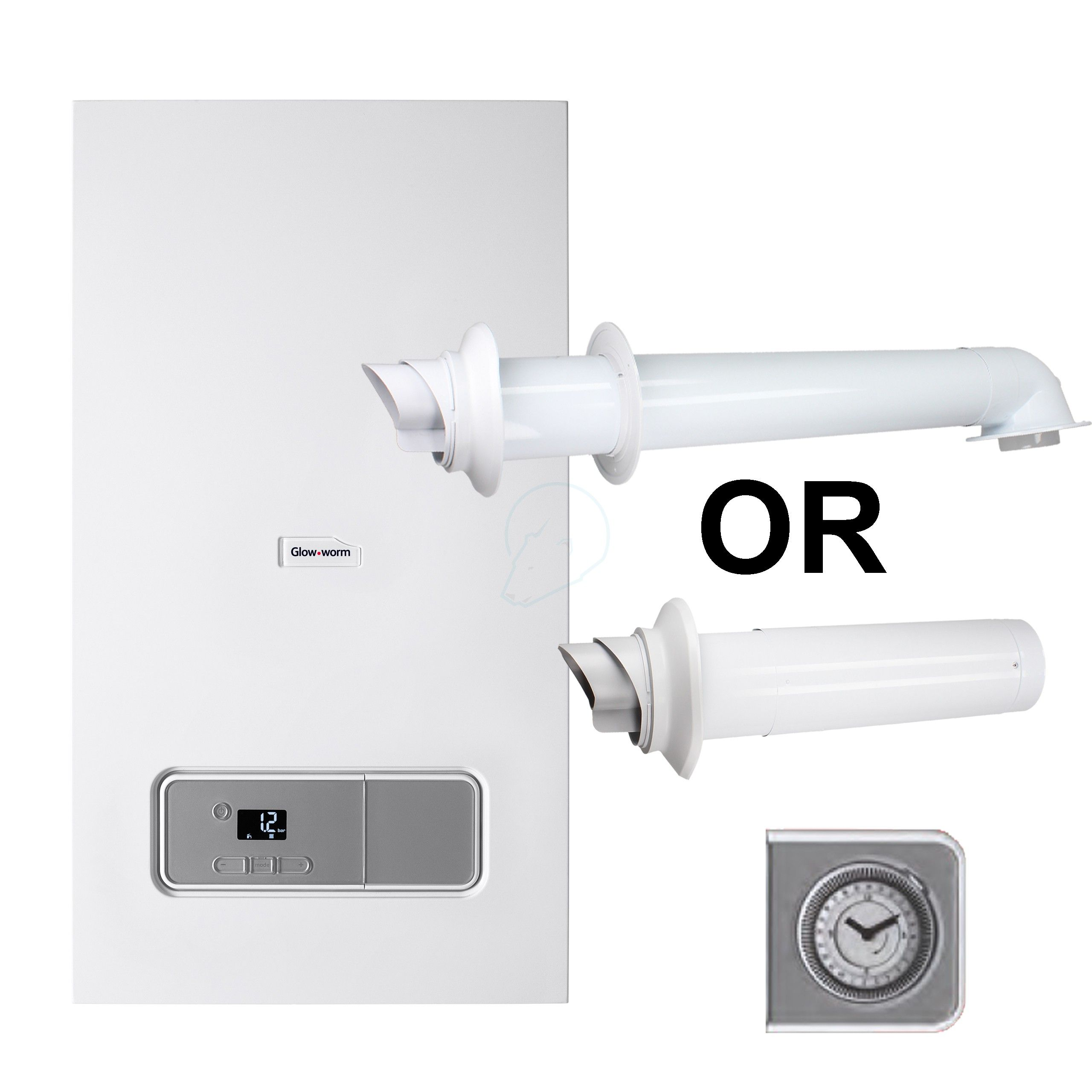 Glow Worm Energy 25kw Erp Condensing Combi Boiler Flue And Clock Kit With Images Glow Worm Boiler Glow