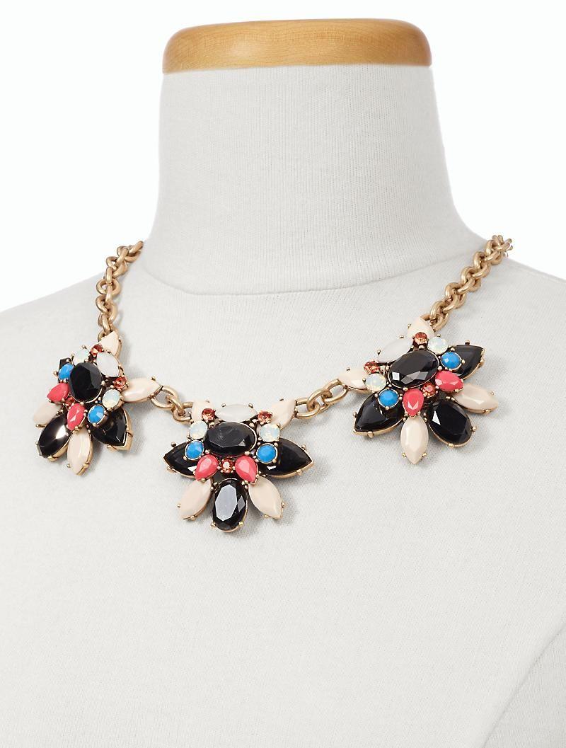Gem Flower Necklace - Talbots