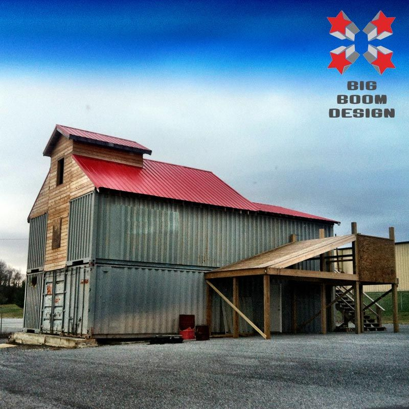 Shipping Container Barn Project in Tennessee | Big Boom ...
