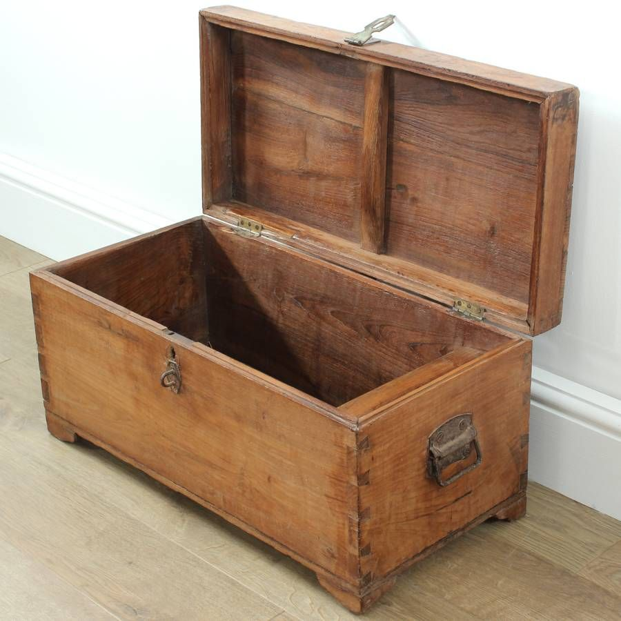 Uncategorized Vintage Wood Trunk jay vintage blanket box and box