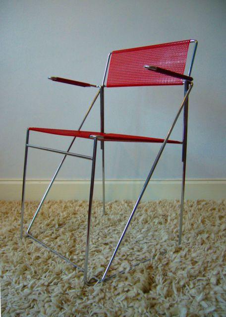 NILS JORGEN HAUGESEN STACKING CHROME CHAIRS 13 x-line vintage retro industrial   eBay £150