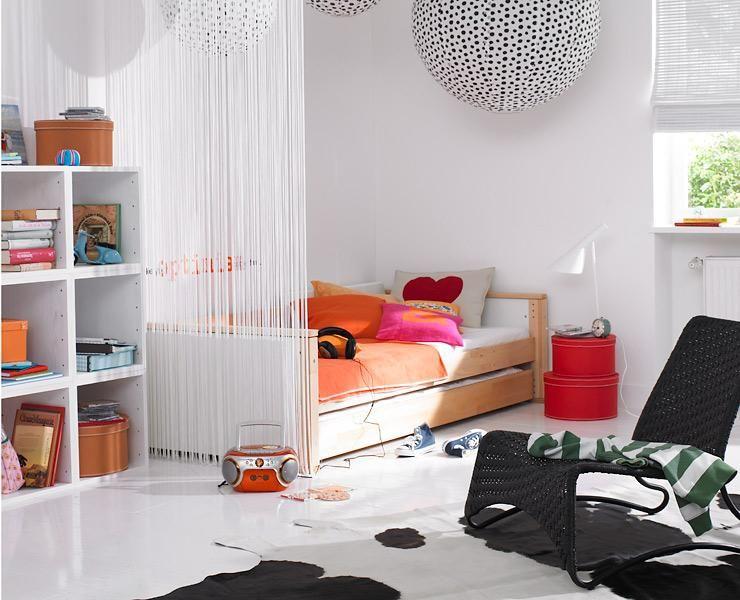 Jugendzimmer Gestalten Raumteiler Dachschragen Gestalten