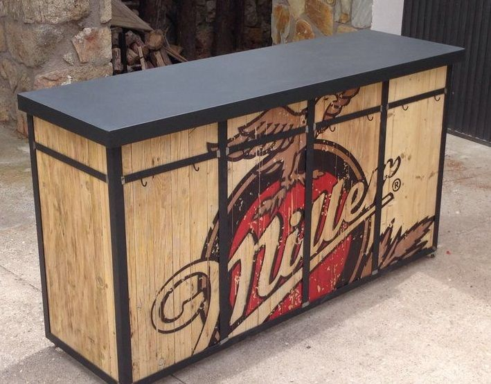 Mostrador hierro y madera restaurante mobiliario - Mostradores de bar ...