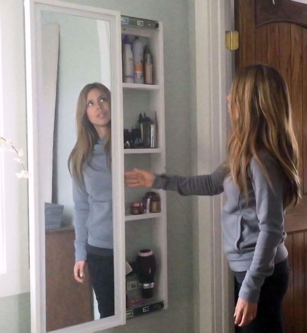 Construir un espejo de cuerpo entero con estantes for Espejo cuerpo entero vintage
