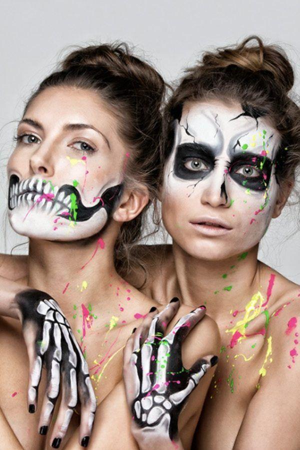 schminkideen f r frauen halloween schminktipps costume pinterest halloween makeup happy. Black Bedroom Furniture Sets. Home Design Ideas