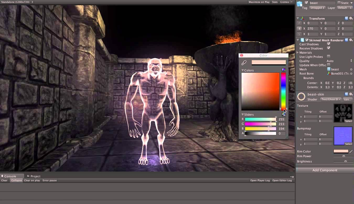 Ghost shader - Unity | Neat Game Development Stuff in 2019