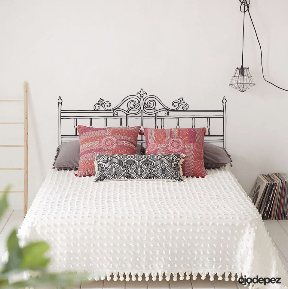 Vinilo decorativo home 010 respaldar para cama de 2 for Vinilos cabecero cama