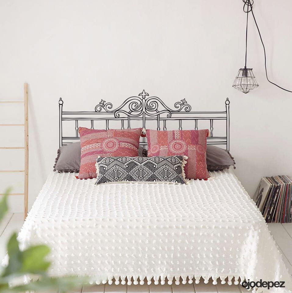 Vinilo decorativo Home 010: Respaldar para cama de 2 plazas. Vinilos ...