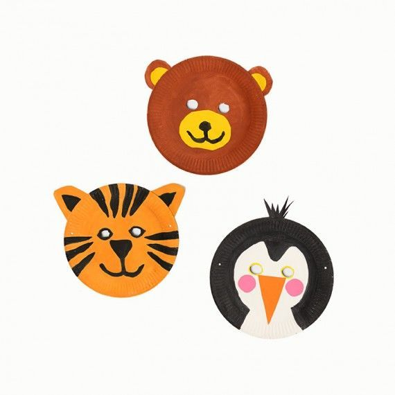 Pappteller Tiermasken Pdf Karneval Fasching Masken Pinterest