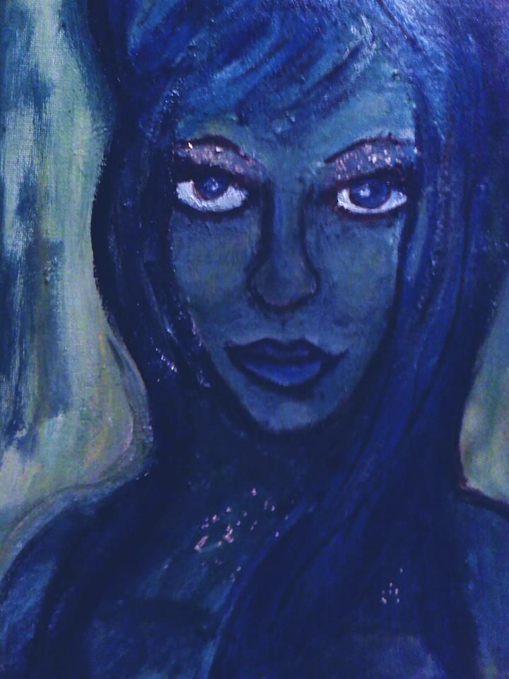 """""""Lady T. Sings the Blues""""    Acrylic"""