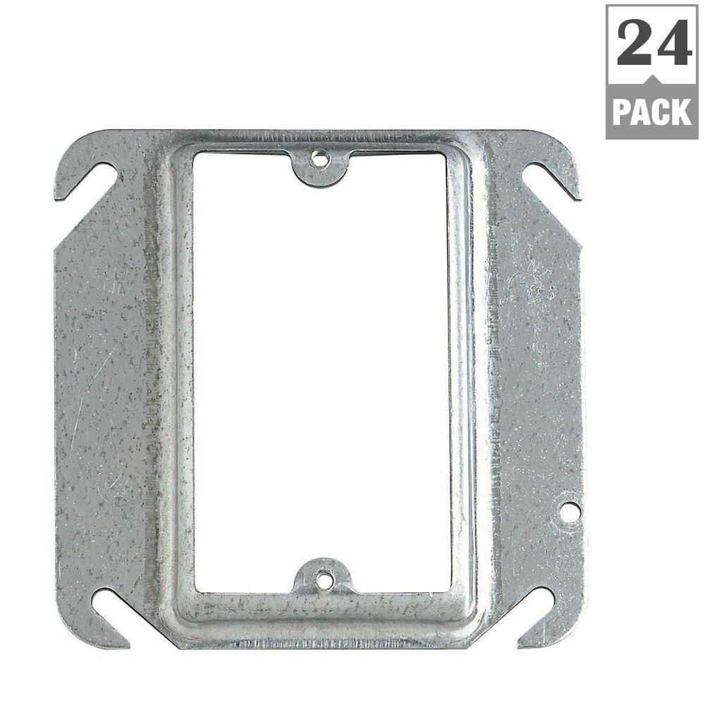 Steel City 1 Gang Square Metal Mud Ring Case Of 24 52c14 24r Metal Electrical Box Home Depot Mud