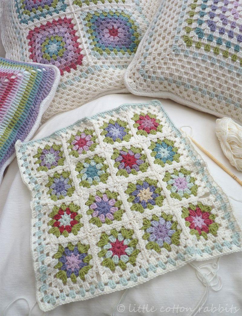crochet cushions cojines