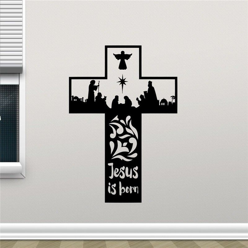 Cross Roots Wall Decal Christian God Jesus Christ Religion