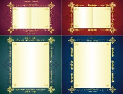 gorgeous gold lace border vector 7