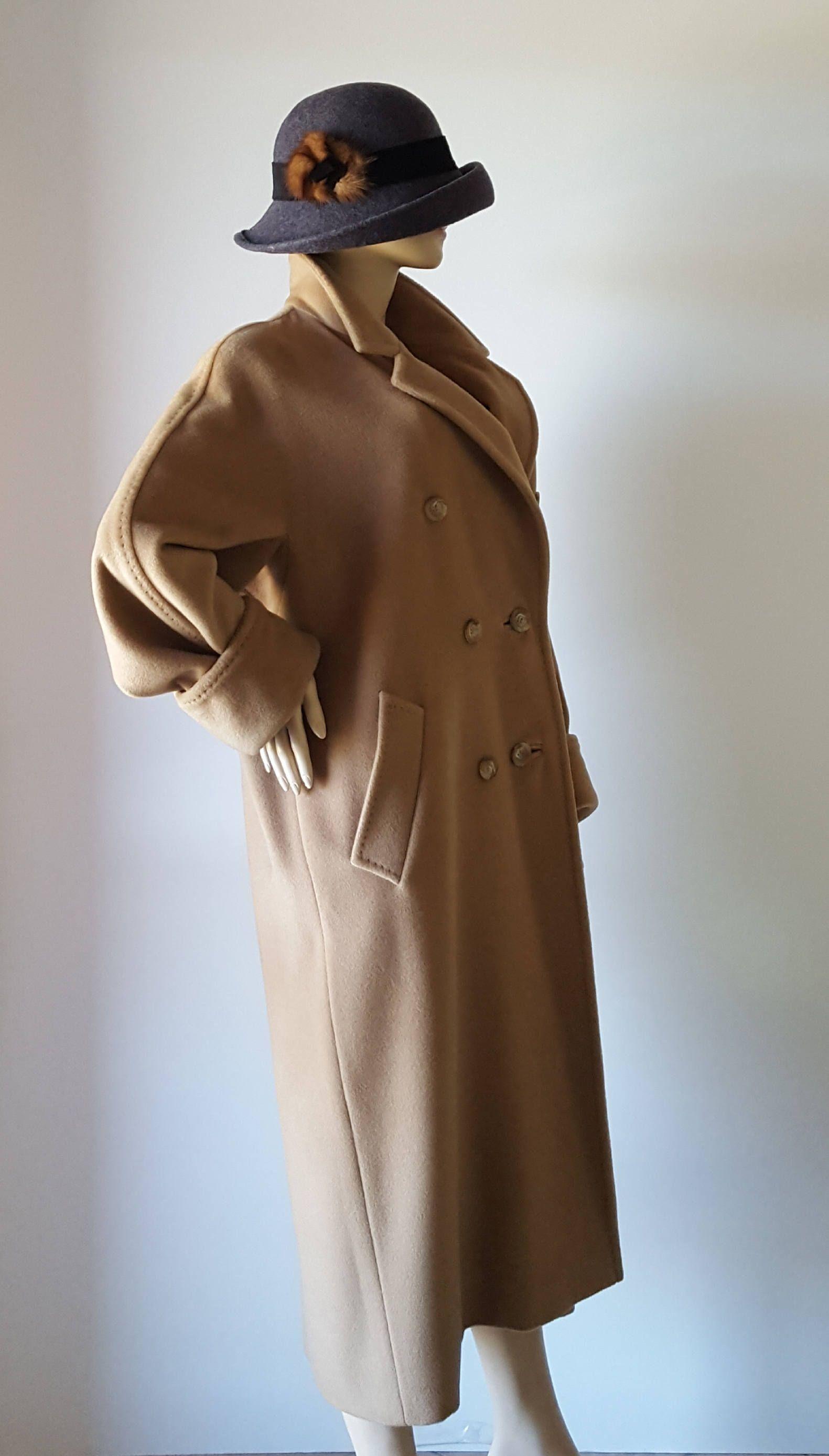 MAX MARA Made in Italy ORIGINALE Cappotto Anni  80 in lana e cashmere di  Isognidellefate su Etsy 5d1525d4456