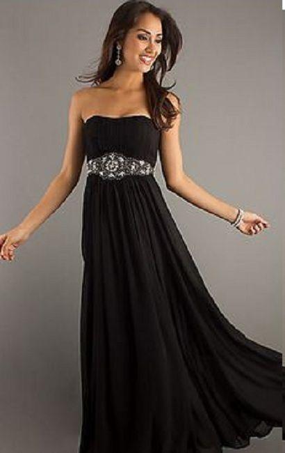semi formal long black dress for wedding | Long formal plus ...