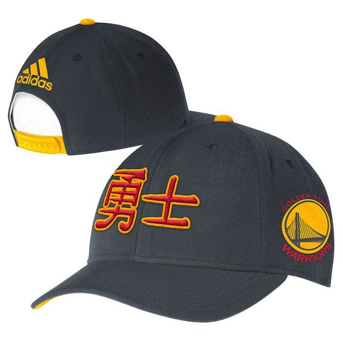 780e2d4f3703a2 Golden State Warriors adidas Chinese Heritage Structured Flex Adjustable  Cap - Slate
