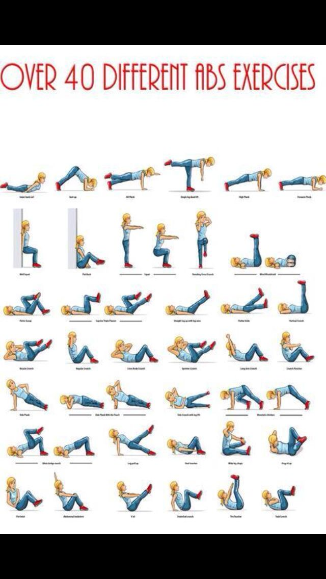 40 different ab sits