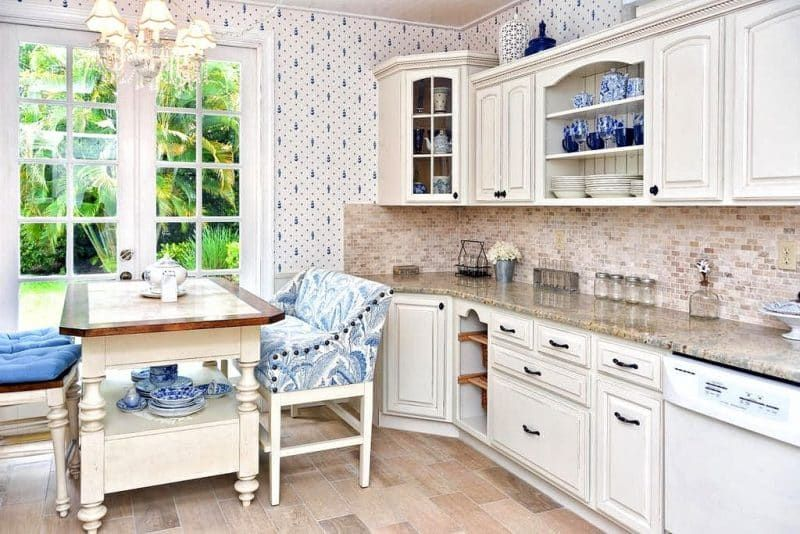 Inspirational Whitewash Cabinets with Granite Countertops