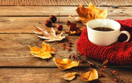 Autumn Coffee Desktop Nexus Wallpapers Autumn Coffee Coffee Wallpaper Coffee Infographic