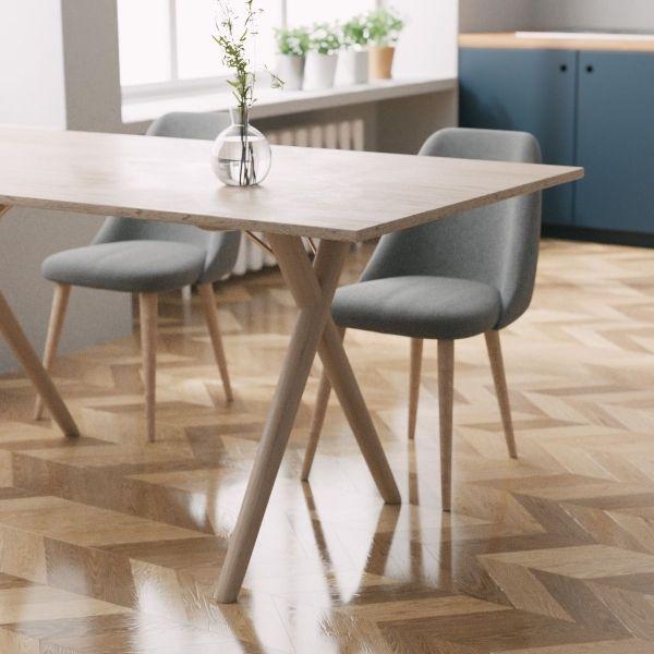 Sloane Wooden Cross Leg Dining Table, Natural Size: 160cm #kuchentisch