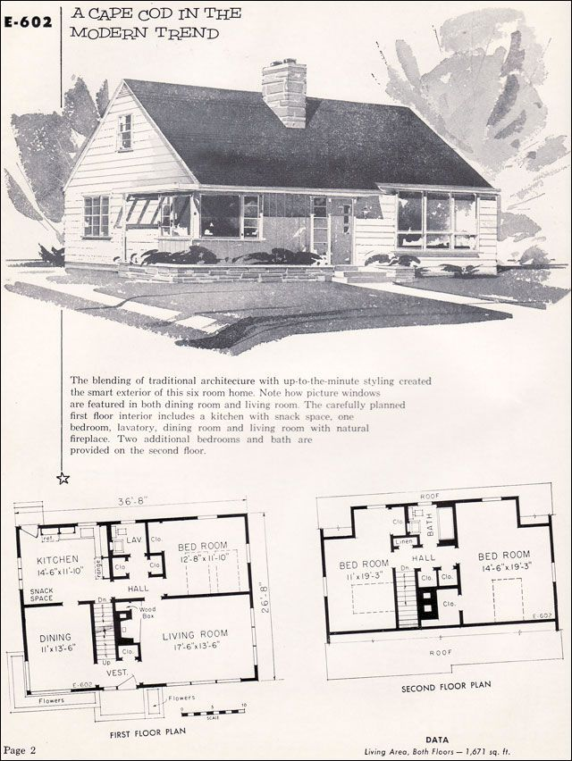 1955 National Plan Service - No. E-602 | VinTagE HOUSE PlanS ... on 1920 style home plans, 1950 home design, retro house plans, minimal traditional house plans, 1950 home interiors, 1950 style home plans,
