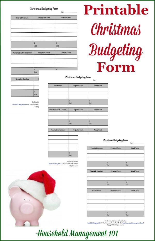 Put Your Christmas On A Budget Why  How Plus Free Printable