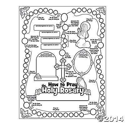 How to pray the rosary color poster from Oriental Trading