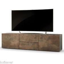 Mobile porta tv moderno Papavero colore acciaio antico credenza ...