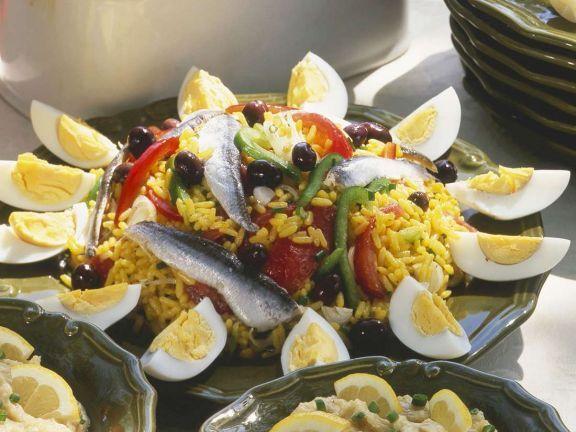 Reis mit Anchovis ist ein Rezept mit frischen Zutaten aus der Kategorie Fisch. Probieren Sie dieses und weitere Rezepte von EAT SMARTER!