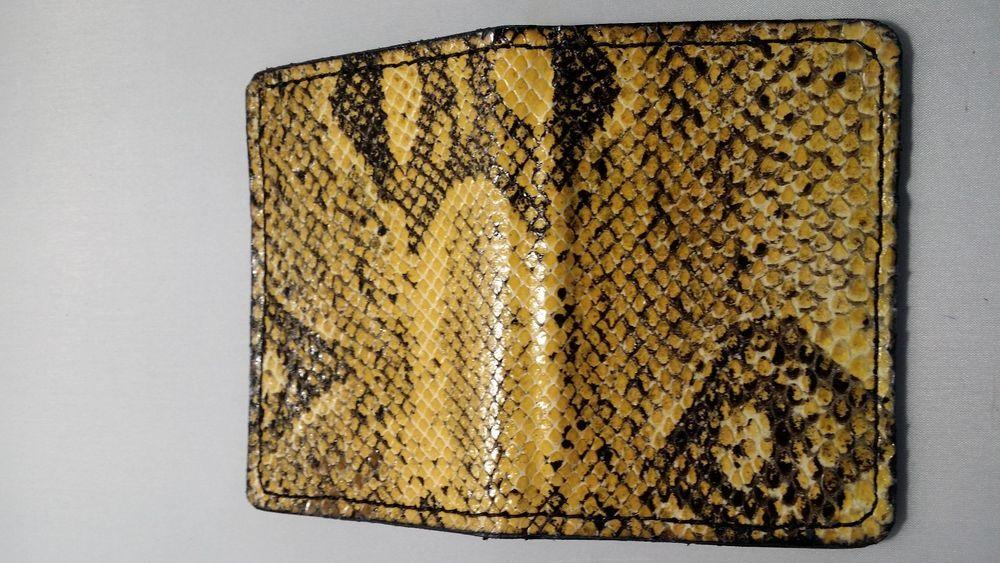 Boa Constrictor Snake Skin Handmade ID Money Clip Credit Business ...