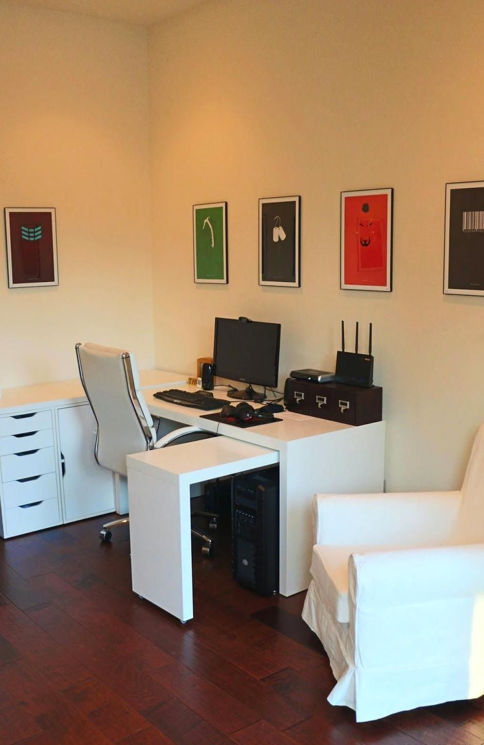 Pin By Anna Fox On Office In 2020 Ikea Malm Desk Home Office Furniture Ikea Malm