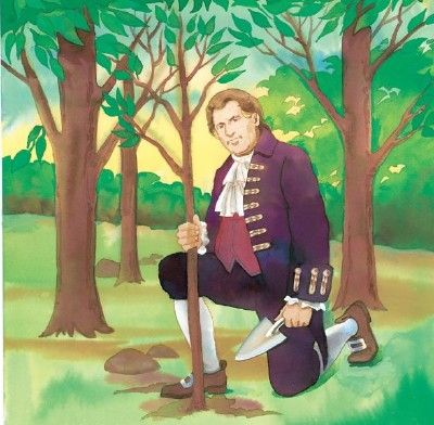 George Washington And The Cherry Tree Tree Story Cherry Tree