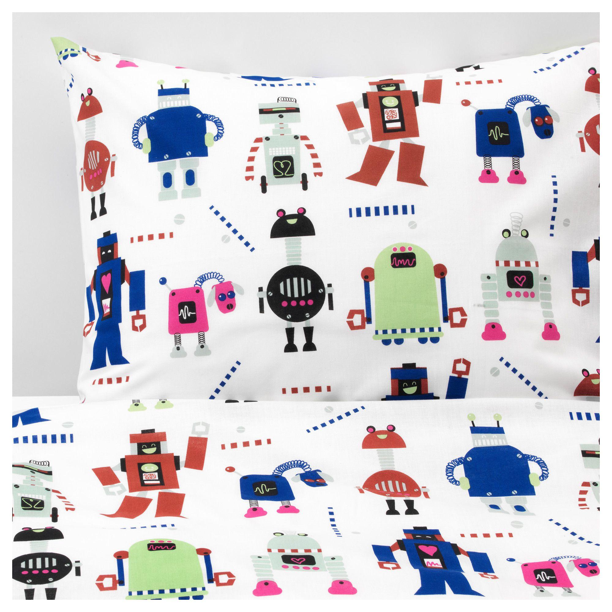 Ikea Lattjo Duvet Cover And Pillowcase S Small Robots