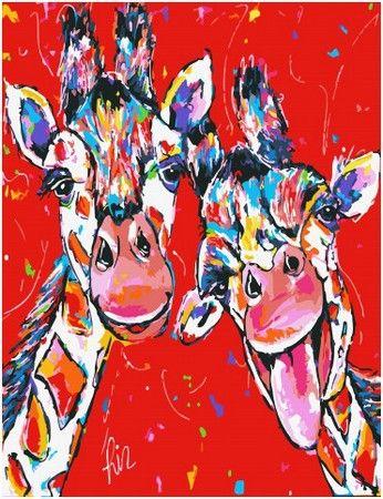 Веселые жирафы в 2020 г   Картины, Рисунки персонажа ...