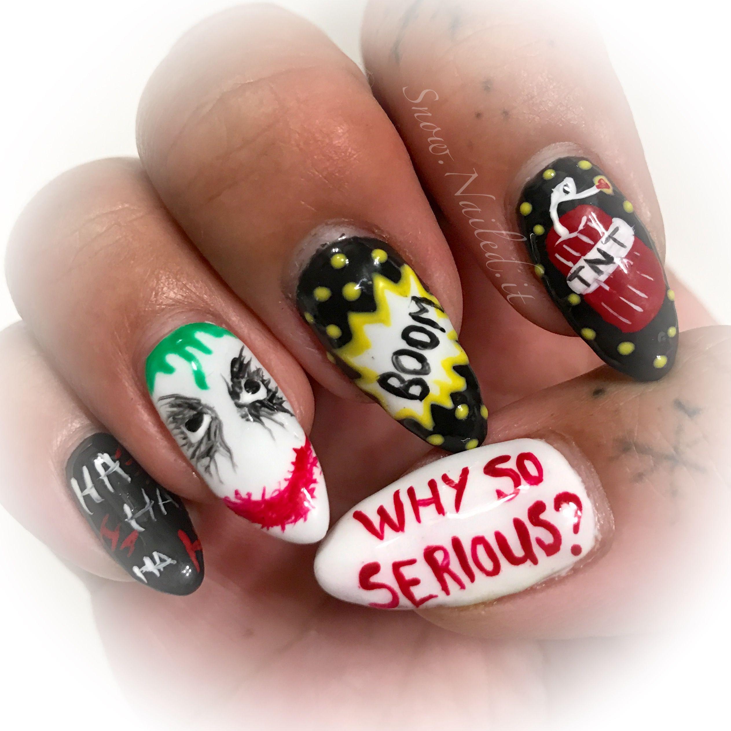 Joker nail art | Snow.Nailed.it | Pinterest | Snow nails