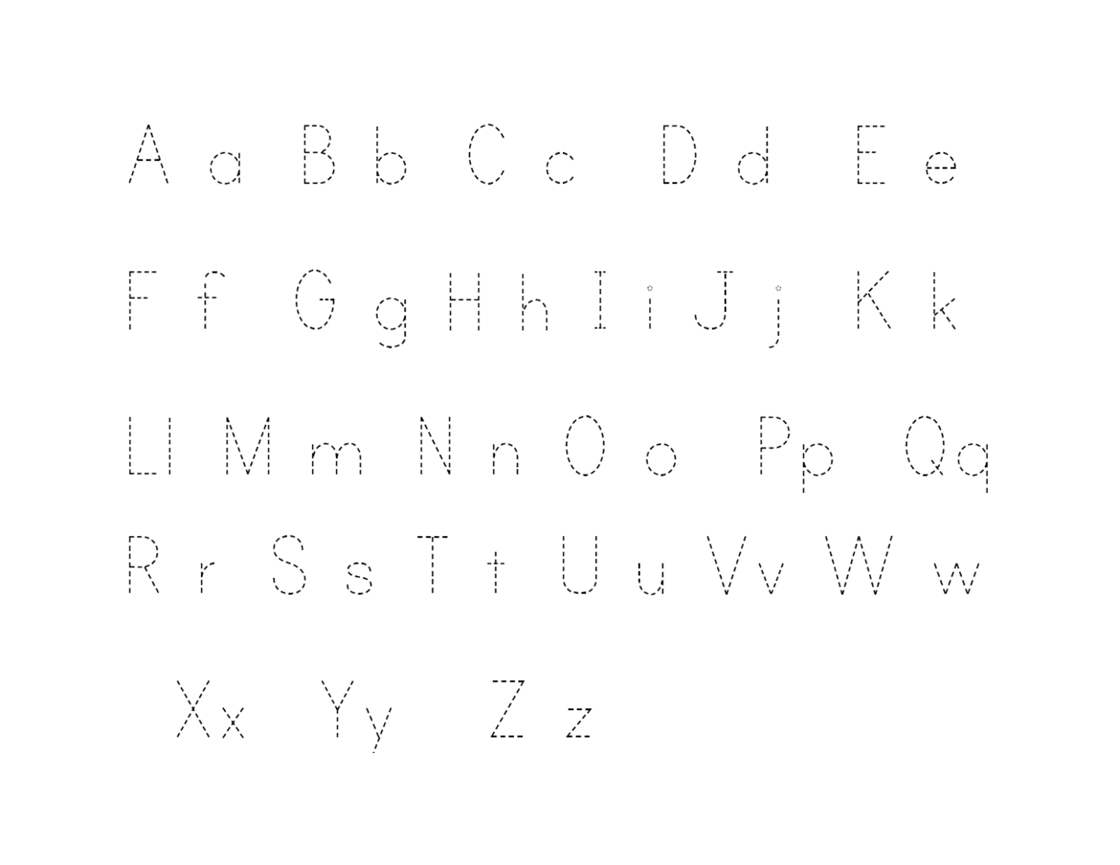 Alphabet Tracer Pages For Kids