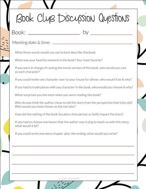 picture about Who Was Book Series Printable List named 10 Guide Club Inquiries For Any E-book: Totally free Printable Checklist