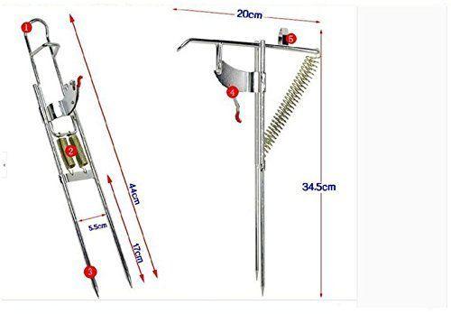 fishing rod holder with automatic tip up hook setter horizontal fishing rod rack plans diy fishing rod storage rack ⋆ stvn eu