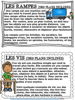 Les Machines Simples En Francais 91 Pages French Teaching Resources Resource Classroom Teaching French