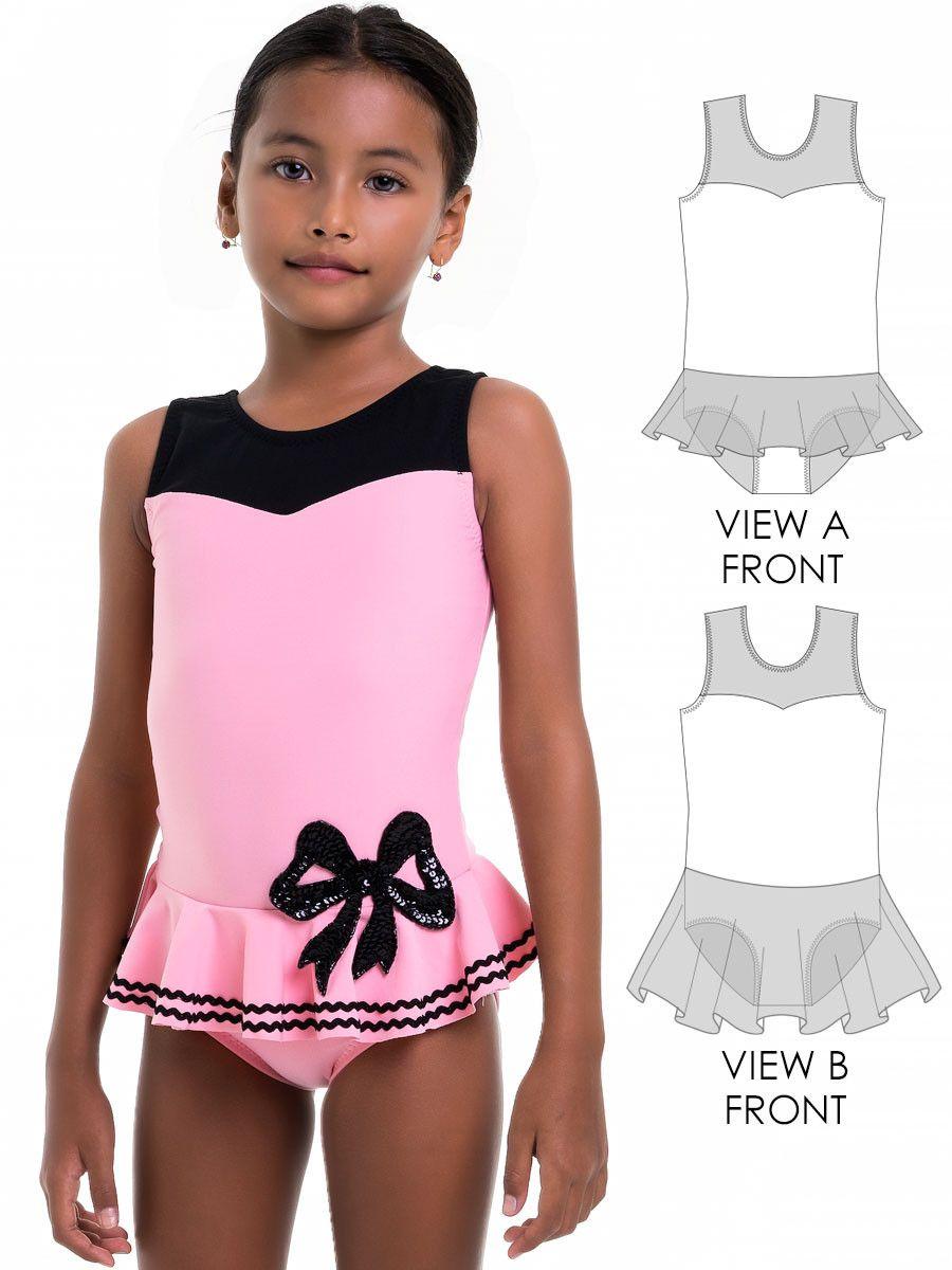 Leotard Patterns, Swimsuit Patterns - LEOTARD #9 - Girls (L509) | Nähen