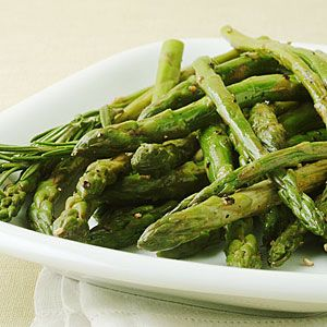 Pan-Roasted Asparagus with Lemon Rind.  One of my favorite side dishes.