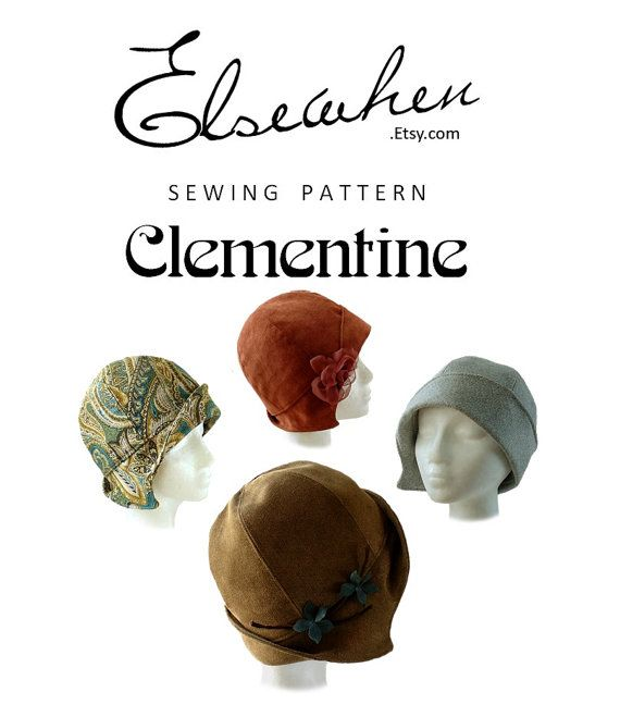 SEWING PATTERN Clementine 1920\'s Twenties Cloche Hat for   Pinnwand ...