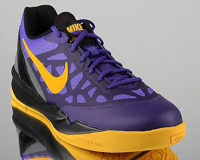 Nike Zoom Attero II 2 Lakers mens low basketball shoes NEW purple gold venom