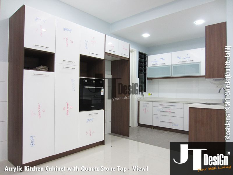 Kitchen Cabinets With Frosted Glass Doors kitchen cabinet at residensi km1(view 1) material: door: acrylic