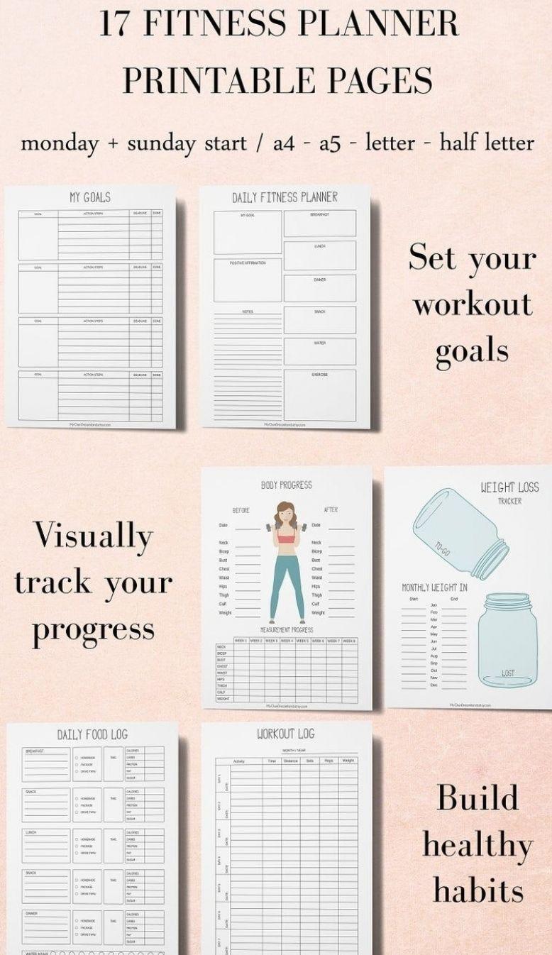 Fitness Planner Workout Planner Printable Planner Kit | Etsy