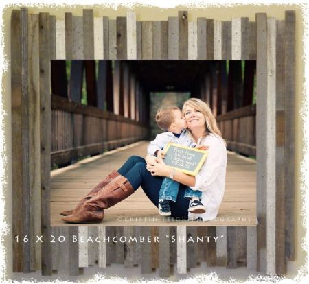 Decorative Large Family Photo Frames Beachcomber Shanty Reclaimed Wood Barnwood Picture Frame Unique Distressed Weathered Farmhouse Frames