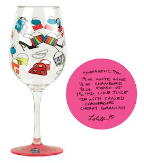 Win a set of 2 Shopaholic Wine Glasses on The Funky Monkey! Giveaway ends midnight EST 3/2/12