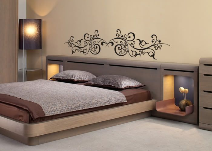stickers t te de lit arabesques orientales oriental tete de et en t te. Black Bedroom Furniture Sets. Home Design Ideas