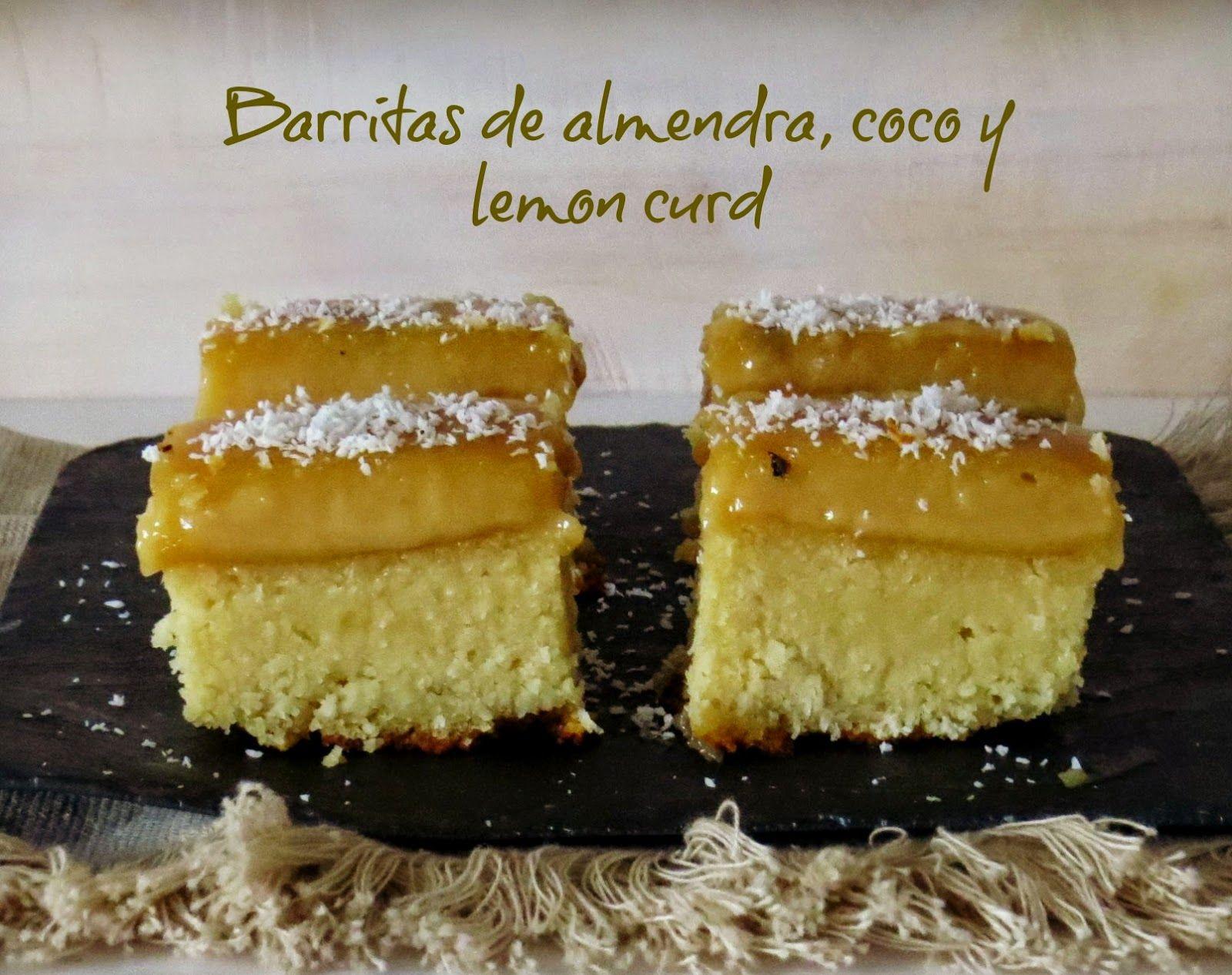 Sin gluten. Disfrutando la vida: Barritas de almendra, coco y lemond curd